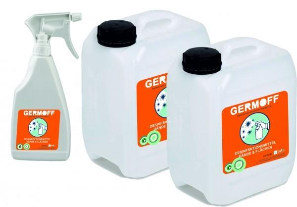 GERMOFF - Desinfektionsmittel Set 2 5L + Sprühflasche
