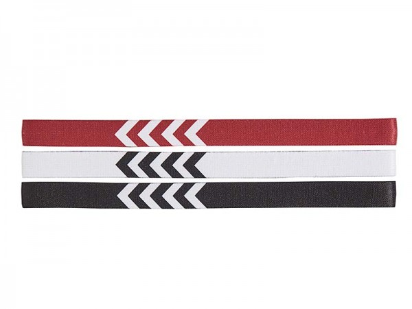 Hummel 3-PACK HEADBAND 17-18 1 WHITE/BLACK/TRUE RED